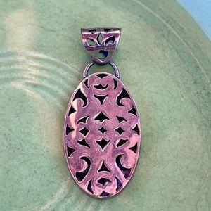 Vintage sterling openwork pendant